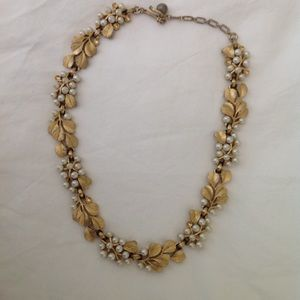 Vintage rare Trifari Grecian pearl necklace